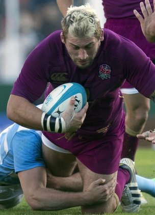 Joe Marler on the charge