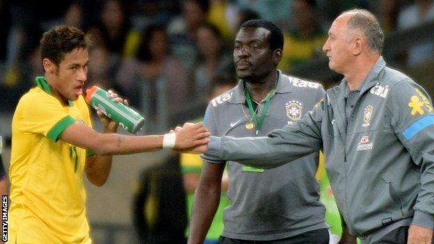 Neymar, Luiz Felipe Scolari