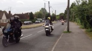 Ride of Respect motorcyclists
