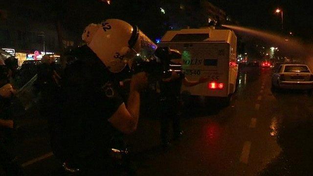 Police in street