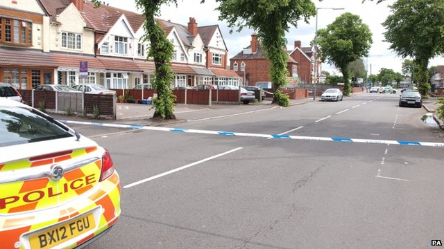 Police cordon after mosque stabbings