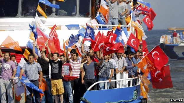 PM supporters in Istanbul, 16 June