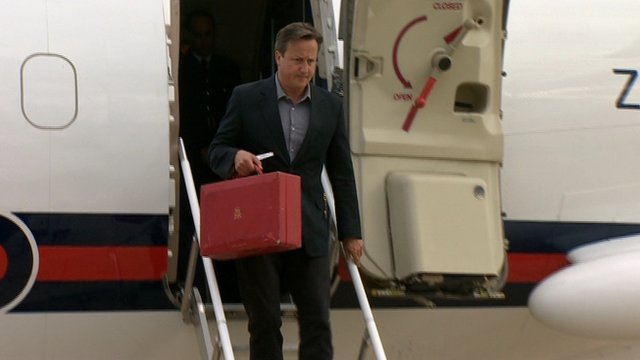 Cameron arrives in Northern Ireland