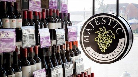 Majestic wine store
