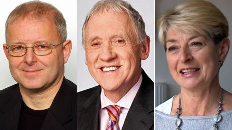 Dave Gordon, Harry Gration and Kay Alexander