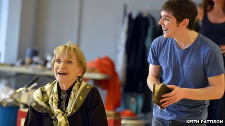 Sian Philips and Terence Keeley in rehearsals for This Is My Family