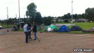 The G8 protest camp in Enniskillen