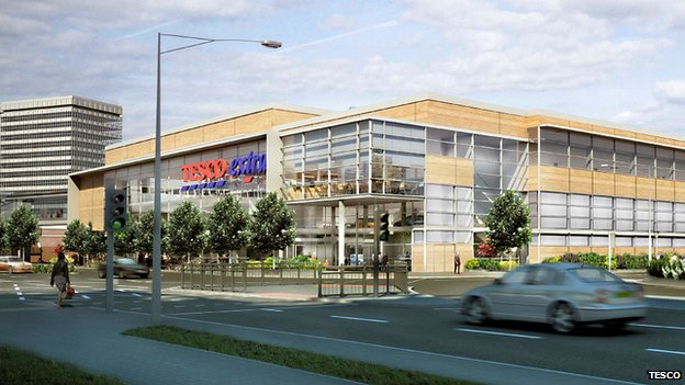 Artist's impression of Southend Tesco
