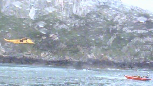 RNLI footage of the search