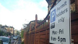 A residential parking permit zone in Bristol