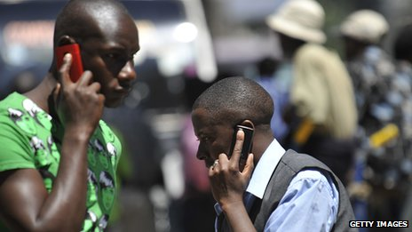 Mobile phone users in Nairobi