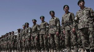 New soldiers of Afghan National Army attend graduation ceremony in Kabul, Afghanistan. 15 June 2013