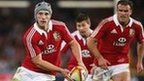 Jonathan Davies and Jamie Roberts in action for the Lions against the Waratahs
