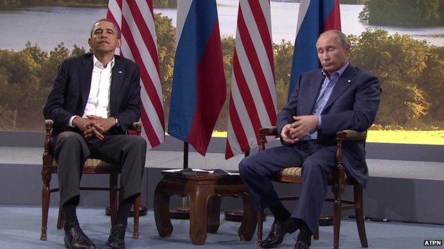 President Barack Obama and President Vladimir Putin