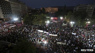 Protest in Athens. 17 June 2013