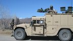 Afghan special forces armoured vehicle