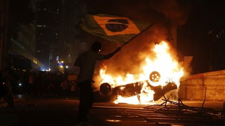 Protests spread throughout Brazil