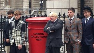 Boris with men in suits