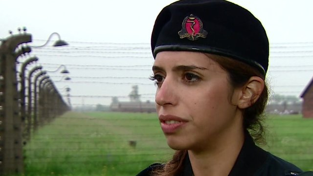 Kevin Connolly speaks to Captain Yael Sela Arbel, 27, a military dentist