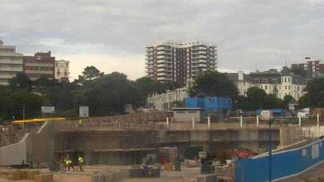 Imax cinema demolition site where work to create an entertainment space has begun