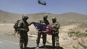 US troops outside Kabul. 18 June 2013