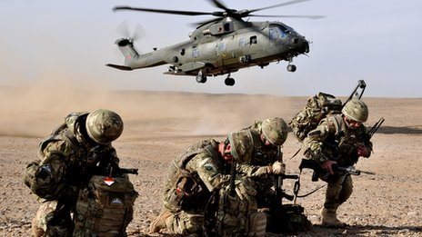Merlin helicopter in Afghanistan