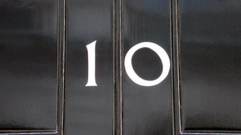 Downing Street door