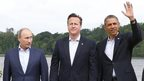 Russian President Vladimir Putin, UK Prime Minister David Cameron and US President Barack Obama