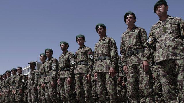 Afghanistan soldiers in Kabul