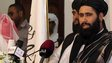 Taliban spokesman Mohammed Naeem opening the Doha office