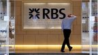Man walking into RBS branch