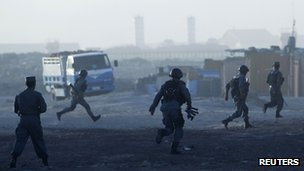 Afghan troops tackle militants near Kabul airport