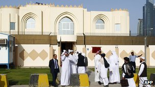 Taliban office in Doha. 18 June 2013
