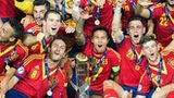 Spain celebrate retaining their U21 title