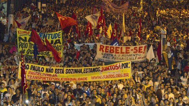 Protests have rocked Brazil