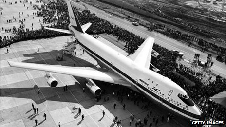 The launch of the Boeing 747