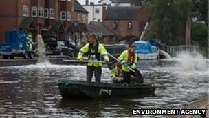 Rescuing fish from the Staffordshire and Worcestershire canal