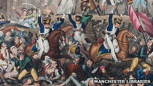 Hussars at the Peterloo Massacre