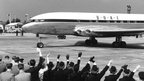 The world's first departure of BOAC's first Comet 1 from London to Johannesburg on  2 May 1952 at Heathrow