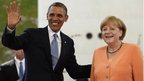 Barack Obama and Angela Merkel, Berlin (19 June)