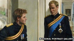 portrait of Prince Harry and Prince William