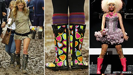 Kate Moss, welly boots and Nicki Minaj