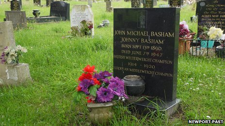 johnny Basham's headstone