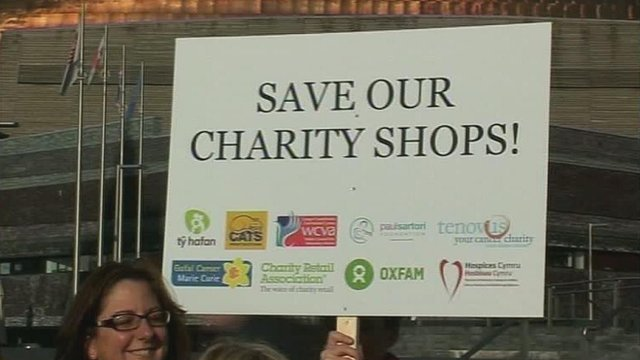 Save our charity shops sign