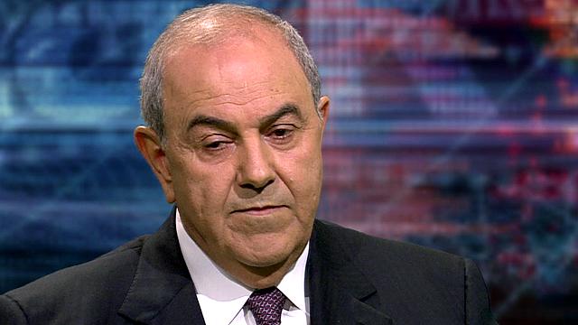 Former Iraqi prime minister Iyad Allawi