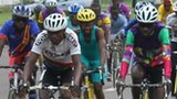 Congolese cyclists training for the tour in the capital, Kinshasa