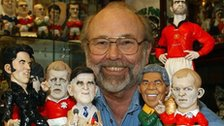 John Hughes pictured with some of the Groggs he created