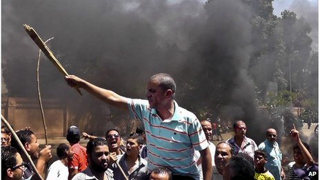 Protests flare over Egypt governor...
