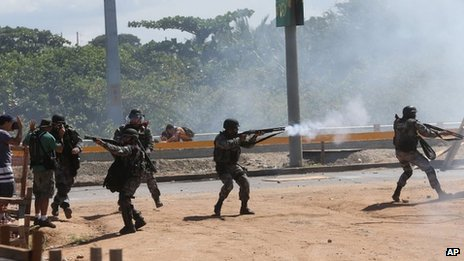 New clashes in Brazil before match...