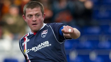 Ross County captain Richard Brittain